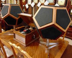 1973 12-sided dodecahedron speakers