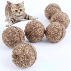 애완 동물 제품 고양이 장난감 자연 개박하 볼, 멘톨 맛, 고양이 취급 100% 식용 고양이--미친 취급 고양이 장난감 brinquedos