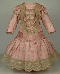 $495.00}  Wonderful Antique French Doll Dress