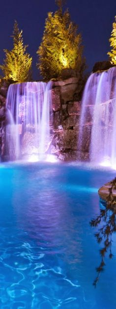 Pool With Waterfalls.  Wish I was right there, right now.  Heavenly.