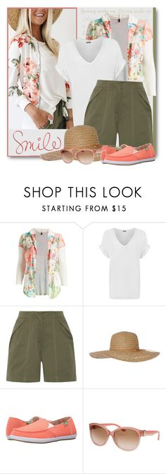 """""""Spring Smile"""" by brendariley-1 ❤ liked on Polyvore featuring Poliana Plus, WearAll, Monse, sanuk, Salvatore Ferragamo and springfashion"""