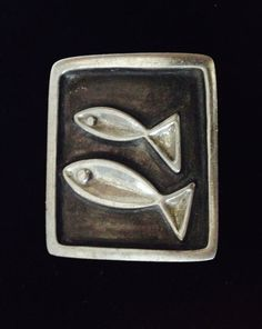 Mid Century Pewter Brooch Rune Tennesmed by WhirleyShirley on Etsy, $55.00