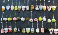 Restless Minds: Multicolor wool pom-pom animals