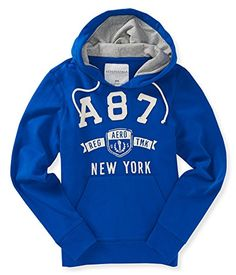 Aeropostale Mens A87 Crest Hoodie Sweatshirt 433 XS Solid fleece hooded sweatshirt. Embroidered and graphic front logo. Notched V neck with drawstrings. Kangaroo pockets. (Barcode EAN = 0635353072703). http://www.comparestoreprices.co.uk/december-2016-5/aeropostale-mens-a87-crest-hoodie-sweatshirt-433-xs.asp