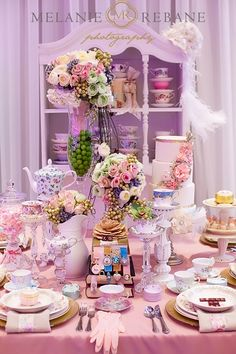 Floral Design, Glamour, Stylish, modern vintage, cream, pink, violet, cream - these colors with teal included. Tea Party Decorations, Afternoon Tea Parties, Ottawa, Holidays And Events, Catering, Floral Design, Teal, Glamour, Display