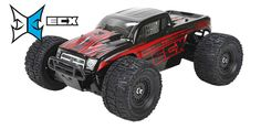 1/18 Ruckus 4WD モンスタートラック RTR, ブラック/レッド