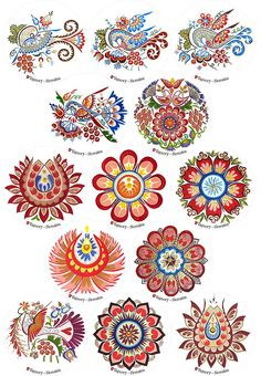 Výsledok vyhľadávania obrázkov pre dopyt slovenské ľudové ornamenty kniha Folk Art Flowers, Flower Art, Polish Embroidery, Mandala, Russian Folk Art, Scandinavian Folk Art, Flower Clipart, Naive Art, Gravure