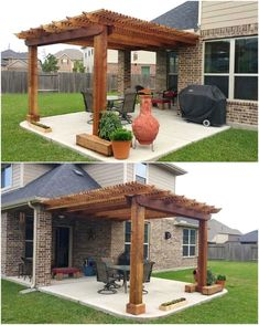 From the last many years, pergola design for patios is getting much popularity for their beautiful designs and attractiveness. Pergola designs provide you a… Curved Pergola, Pergola Attached To House, Pergola With Roof, Pergola Lighting, Wooden Pergola, Backyard Pergola, Pergola Shade, Pergola Kits, Pergola Patio