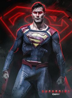 Poster of The CW Supergirl Tyler Hoechlin as Superman by Bosslogic
