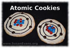 How to Make Atomic Cookies (with video tutorial) - http://susanevans.org/blog/6-atomic-cookies/