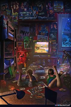 Nostalgia Meets Artistry in This Incredible Video Game Artwork – Game Room İdeas 2020 Ps Wallpaper, Game Wallpaper Iphone, Video Game Posters, Video Game Art, Arte Assassins Creed, Culture Pop, Gamer Room, Retro Video Games, Gaming Wallpapers