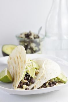 Black Bean and Avocado Grilled Tacos | www.bellalimento.com