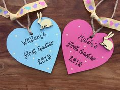 Easter Gift Baby - Personalised Baby's First Easter Sign boy or girl gift nursery decor