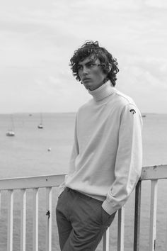 9b2f65a822cb3 Styling by Kitty Cowell. Grooming by Harsha Chavda. Maximillian wears  Jumper by Maison Kitsune. See the full series here.