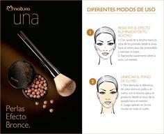 ¡Conoce los diferentes modos de uso de las Perlas Efecto Bronce de Natura UNA!