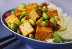Tofu infused with a melange of Asian flavors and ingredients. Serve with Asian Vegetable Salad for an attractive presentation. Allow time to press and drain the tofu before cooking. Tofu Recipes, Cooking Recipes, Healthy Recipes, Healthy Meals, Healthy Cooking, All You Need Is, Low Cholesterol Diet Plan, Breaded Tofu, Asian Vegetables