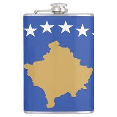 Kosovo, flag flasks