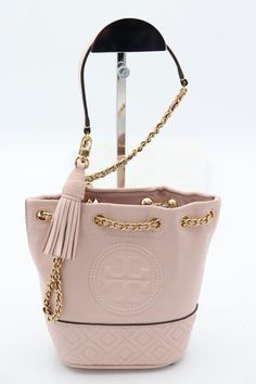 Details About Nwt Tory Burch Fleming Mini Pink Leather Bucket Shoulder Bag New 49321 348