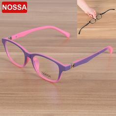 NOSSA 2017 Elegant Fashion Children Optical Glasses Frame Kids Eyewear Eyeglasses Boys Girls Myopia Spectacle Frames Clear Lens