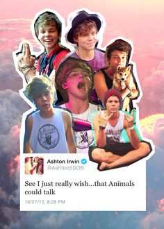 5sos funny cute pics | mine edit collage he's so cute 5sos (not rly) Ashton Irwin i tried my ...