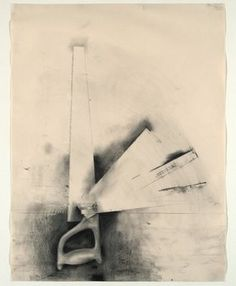 Jim Dine - Untitled (Five Bladed Saw), 1973 - graphite, charcoal, crayon on paper - MoMA