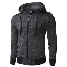 3dbe4e433 PlusMill Men s Grey Plus Size Hoodie Sweatshirt Jacket  plussize  hoodiemen  Mens Sweatshirts