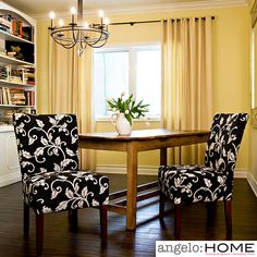 This angelo:HOME Bradford armless accent chair set was designed by Angelo Surmelis. Sold as a set of two, the Bradford chair is designed with a slightly contoured back and a spacious seat and is perfect for the living room or dining room.