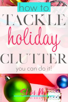 Don't let a messy house ruin your holidays! These 5 easy and practical tips will show you how to reduce clutter during the holidays, from Halloween all the way through Christmas. Entryway Organization, Craft Organization, Organized Entryway, Organizing, Organized Kitchen, Thanksgiving Traditions, Christmas Traditions, Messy House, Holiday Stress