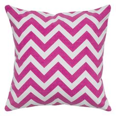 Rizzy Home Classic Chevron Throw Pillow, Pink