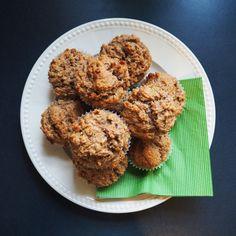 Rezept: vegane Spekulatius-Muffins mit Bananen und Haselnüssen