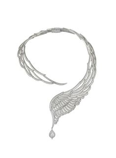 Garrard necklace with 40ct of diamonds, set in white gold, from the 10th Anniversary Wings High Jewellery collection.
