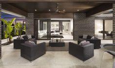 Alfresco ideas - tiles instead of timber deck Indoor Outdoor Living, Outdoor Rooms, Outdoor Furniture Sets, Outdoor Areas, Outdoor Tiles, Outdoor Flooring, Patio Tiles, Warren House, Interior Design Gallery
