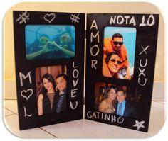 Dia dos namorados: porta retrato personalizado Arteiras de Coração www.arteirasdecoracao.com.br