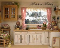 Casa de muñecas miniatura RoomBox sentado rincón por por Minicler