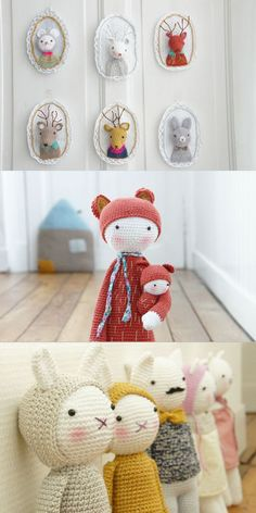 I love these, I think I just found some Miss Piggy projects. Crochet dolls