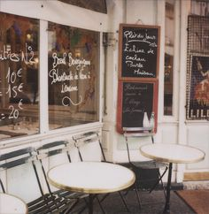 PARIS. Oh to have an espresso at a Cafe in Paris.