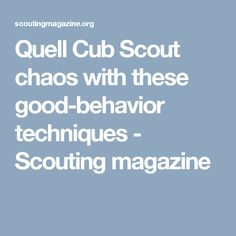 Quell Cub Scout chaos with these good-behavior techniques - Scouting magazine