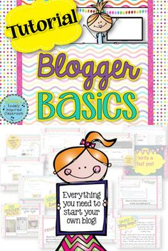 "Want to start your own blog for teaching, a business, or a hobby? This tutorial will help you get started from setting up your account to customizing the layout, adding widgets, getting your blog ""out there"", linky parties and more! #blog #edchat #marketing"