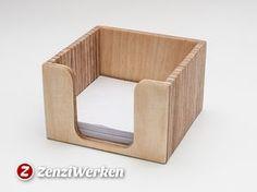 ZenziWerken | Zettelbox aus Birkensperrholz. DIY für cnc oder Lasercutter