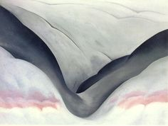 black place, grey and pink . a place in the new mexico desert that georgia o' keeffe would frequently paint. Georgia O'keefe Art, Georgia On My Mind, Georgia O Keeffe Paintings, Alfred Stieglitz, Digital Museum, New York Art, Oil Painting Reproductions, Art Institute Of Chicago, Flower Of Life