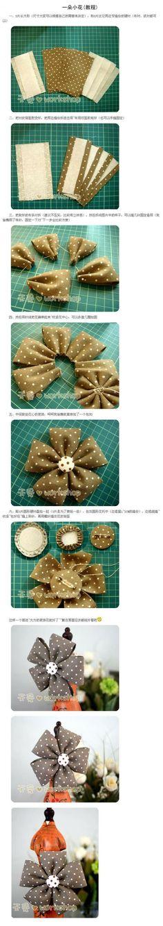 一朵小花(教程),How to tie a Bow, gift Wrapping tutorial,bow, bows,tie, gift, wrapping, decor, decoration, how to, diy, fabric, ribbon tying tutorial