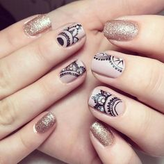 Looking for the best nude nail designs? Here is my list of best nude nails for your inspiration. Lace Nails, Glitter Nails, Lace Nail Art, Glitter Gloss, Purple Nail Designs, Nail Art Designs, French Nails, Ongles Beiges, Mandala Nails