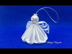 DIY Ribbon Angel 😇 АНГЕЛ ИЗ ЛЕНТ/ Kanzashi Angel/ Satin Ribbon Christmas Angel Ornaments 2 Ola ameS - Free Online Videos Best Movies TV shows - Faceclips Christmas Angel Decorations, Angel Ornaments, Christmas Tree Toppers, Christmas Angels, Holiday Wreaths, Diy Christmas Gifts, Christmas Ornaments, White Christmas, Crochet Ornaments
