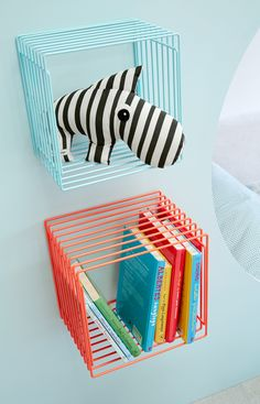 Cool wire shelves for all the favorite toys - by Silly U, a Danish kids home decor company we love.