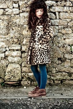 lovely rude tights and bohemian coat