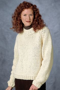 Raglan Sleeve Pullover in Lion Brand Wool-Ease Thick & Quick - 1201. Discover more Patterns by Lion Brand at LoveKnitting. The world's largest range of knitting supplies - we stock patterns, yarn, needles and books from all of your favorite brands.