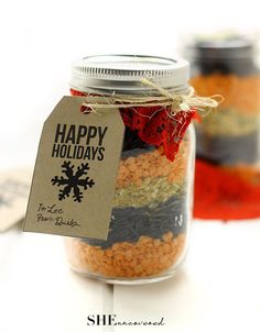 Mason Jar Gift Idea: Curried Lentil and Wild Rice Soup