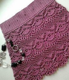 Artesanato com amor...by Lu Guimarães: Crochet padrão para uma saia