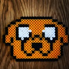 Jake Adventure Time hama beads by valentina_coll