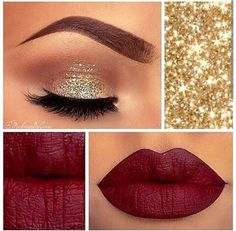 Holiday look that brings the glam to the New Year. Achieve this look with a Tarte Lip Matte Color